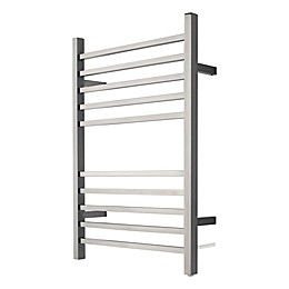 Amba Radiant Wall Mount Plug-In Towel Warmer with Ten Square Bars