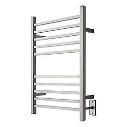 Amba Radiant Wall Mount Hardwired Towel Warmer with Ten Square Bars