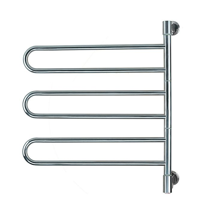 Alternate image 1 for Amba Swivel Wall Mount Plug-In Towel Warmer with 6 Bars in Polished Stainless Steel