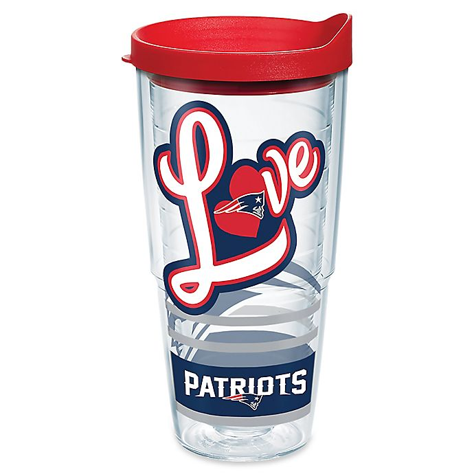Alternate image 1 for Tervis® NFL New England Patriots 24 oz. Love Wrap Tumbler with Lid