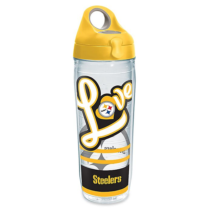 Alternate image 1 for Tervis® NFL Pittsburgh Steelers 24 oz. Love Wrap Water Bottle with Lid