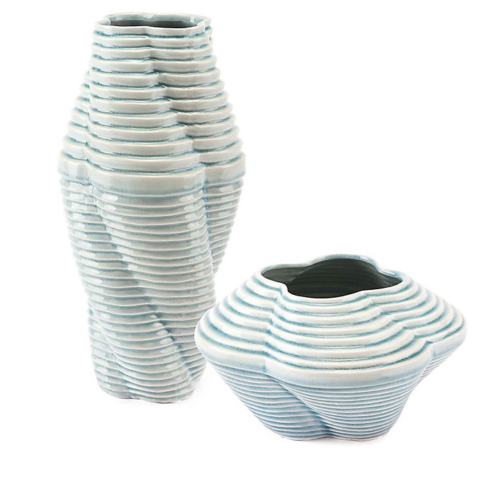 Alternate image 1 for Zuo® Twisted Vase in Blue