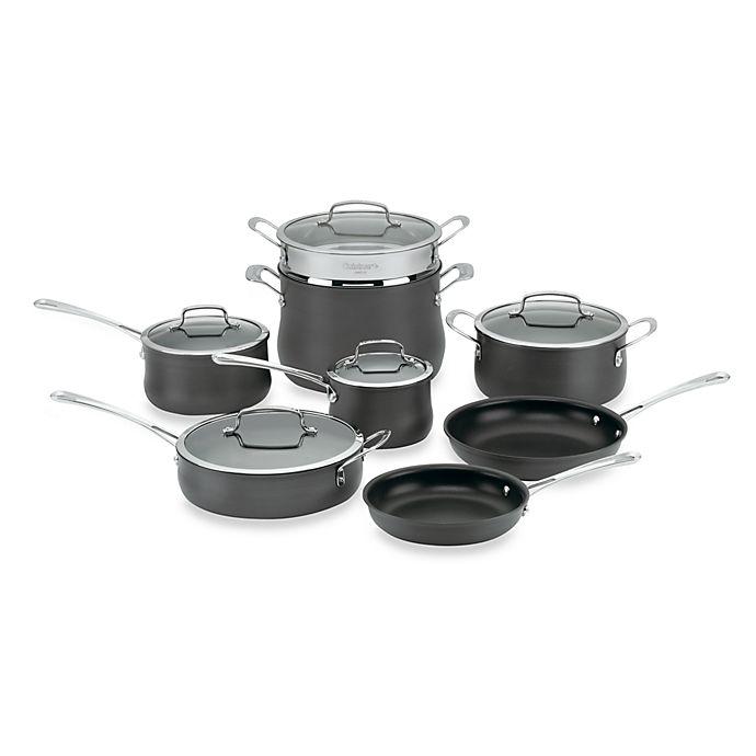 Alternate image 1 for Cuisinart® Contour™ Hard Anodized 13-Piece Cookware Set