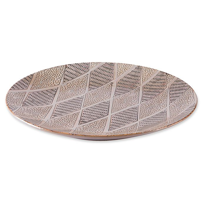 Alternate image 1 for Zuo® Ikat Tribal Decorative Plate in Brown