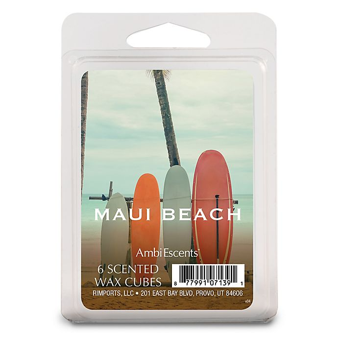 Alternate image 1 for AmbiEscents™ Maui Beach 6-Pack Scented Wax Cubes