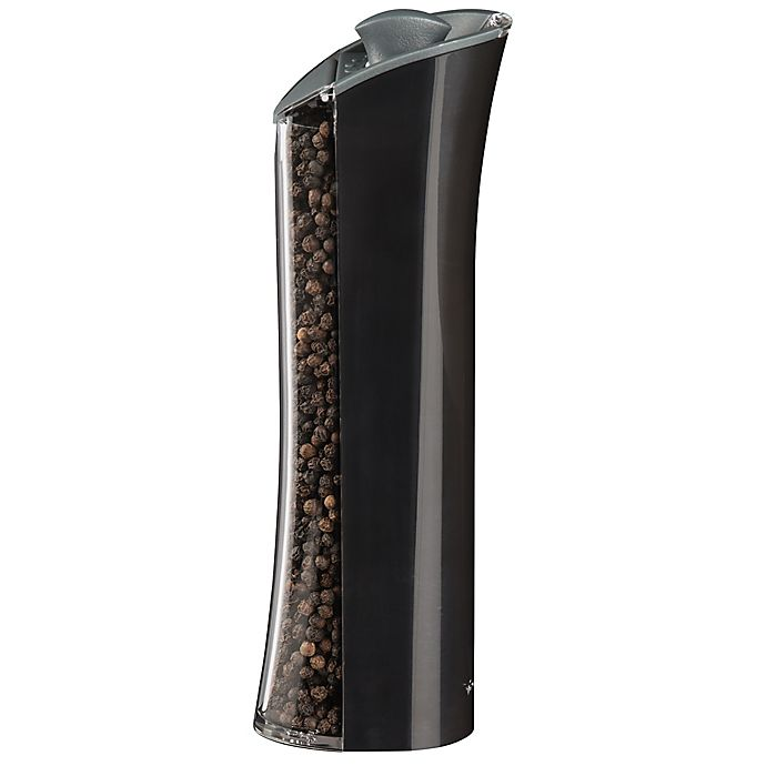 Alternate image 1 for Trudeau Graviti Plus LED 8-Inch Salt/Pepper Mill in Black