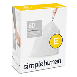 simplehuman® Code E 60-Pack 20-Liter Custom Fit Liners in White