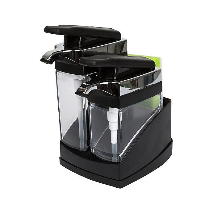 Alternate image 1 for Casabella® Sink Sider™ Duo Dispenser with Sponge in Black