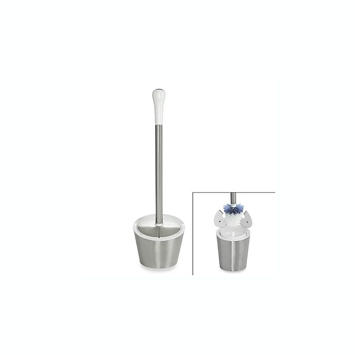 Alternate image 1 for OXO Good Grips® Stainless Steel/White Toilet Brush