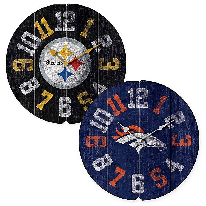 Alternate image 1 for NFL Vintage Round Wall Clock Collection