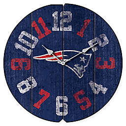 NFL New England Patriots Vintage Round Wall Clock