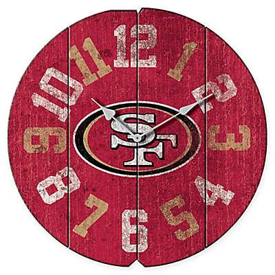 NFL San Francisco 49ers Vintage Round Wall Clock