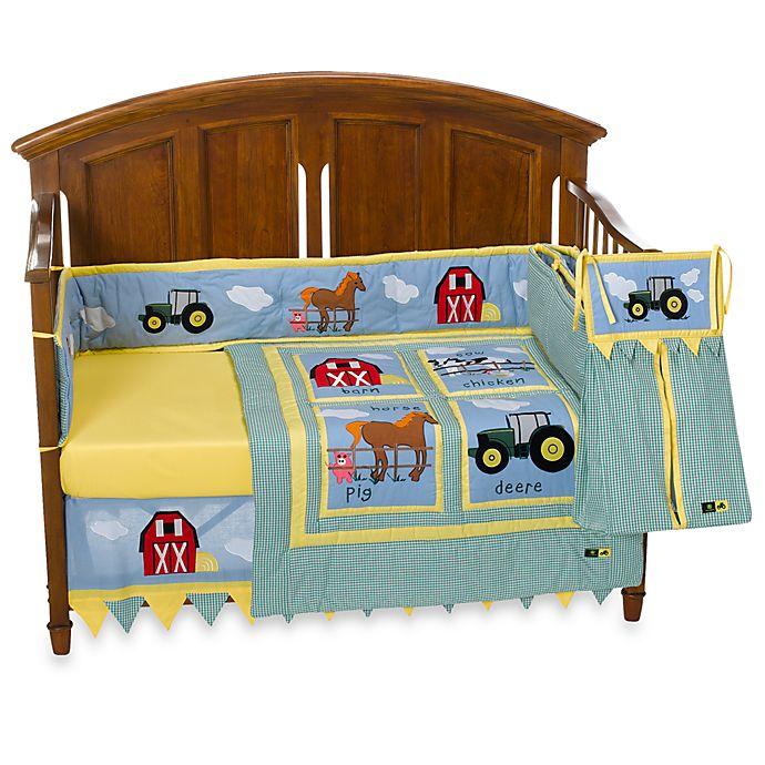 John Deere Tractor 4 Piece Crib Bedding Set And Accessories