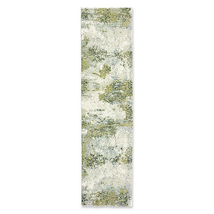 Alternate image 1 for Oriental Weavers Evolution Impressions 2-Foot 3-Inch x 8-Foot Runner in Blue