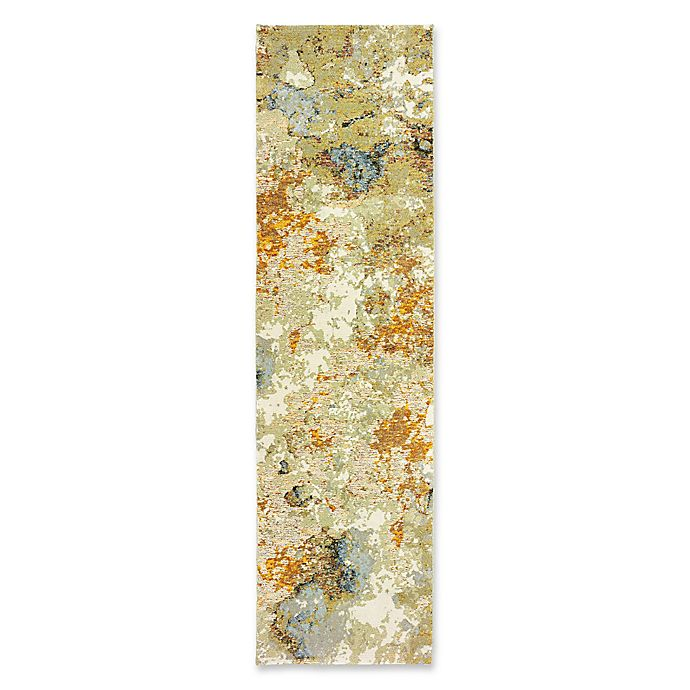 Alternate image 1 for Oriental Weavers Evolution Impressions 2-Foot 3-Inch x 8-Foot Runner in Gold