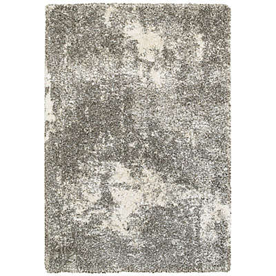 Oriental Weavers Henderson Abstract Shag Rug in Grey/Ivory