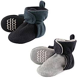 Hudson Baby® 2-Pack Fleece Lined Scooties in Blue/Grey