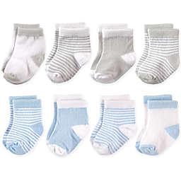 Hudson Baby® 8-Pack Basic Crew Socks in Blue/Grey
