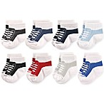 Hudson Baby® Size 6-12M 8-Pack Sneakers Short Crew Socks