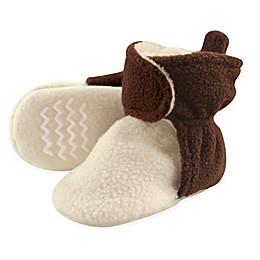 Hudson Baby Fleece Lined Scooties in Brown/Cream