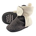 Hudson Baby Size 0-6M Fleece Lined Scooties in Charcoal/Cream