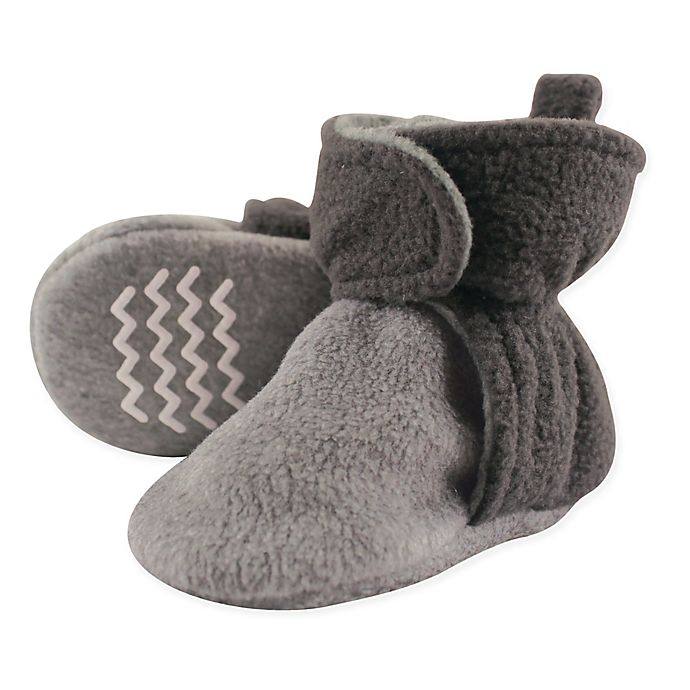 Alternate image 1 for Hudson Baby Size 2T Fleece Scooties in Charcoal/Grey