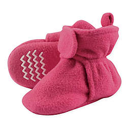 Hudson Baby® Size 3T Fleece Scooties Slipper in Dark Pink