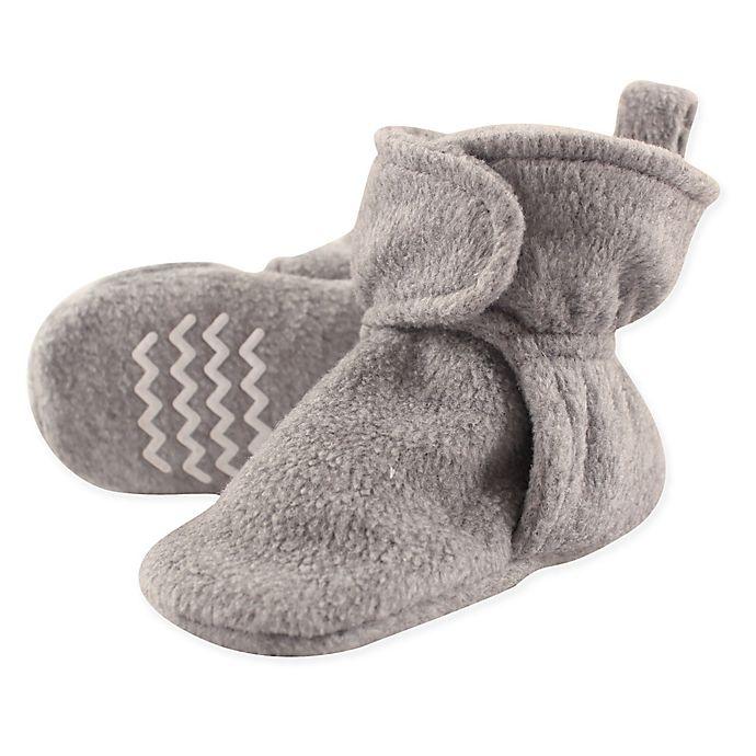 Alternate image 1 for Hudson Baby® Fleece Scooties Sock in Heather Grey