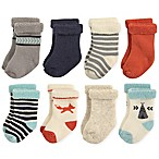 Hudson Baby® Size 0-6M 8-Pack Fox Terry Rolled Cuff Socks
