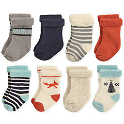 Hudson Baby® 8-Pack Fox Terry Rolled Cuff Socks