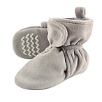 Hudson Baby Size 6-12M Fleece Lined Scooties in Grey