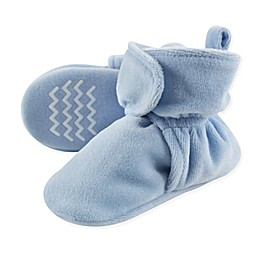 Hudson Baby Velour Scooties in Light Blue