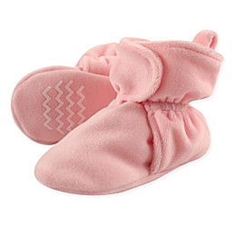 Hudson Baby Velour Scooties in Light Pink