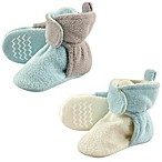 Hudson Baby® 2-Pack Size 0-6M Fleece Lined Scooties in Mint/Grey