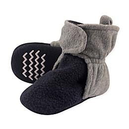 Hudson Baby® Fleece Scooties Sock in Navy/Grey