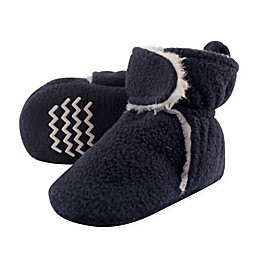 Hudson Baby Sherpa Lined Scooties in Navy/White