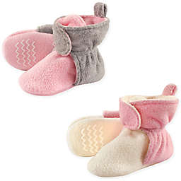Hudson Baby® 2-Pack Fleece Lined Scooties in Pink/Cream