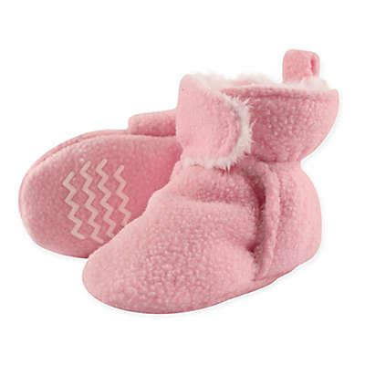 Hudson Baby Sherpa Lined Scooties in Light Pink