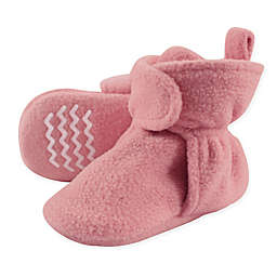 Hudson Baby® Fleece Scooties Sock in Strawberry