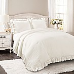 Lush Décor Reyna 3-Piece King Comforter Set in White