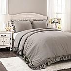 Lush Décor Reyna 3-Piece Full/Queen Comforter Set in Grey