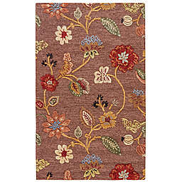 Jaipur Blue Collection Floral Rug in Brown/Yellow