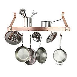Enclume® Bookshelf Pot Rack in Brushed Copper