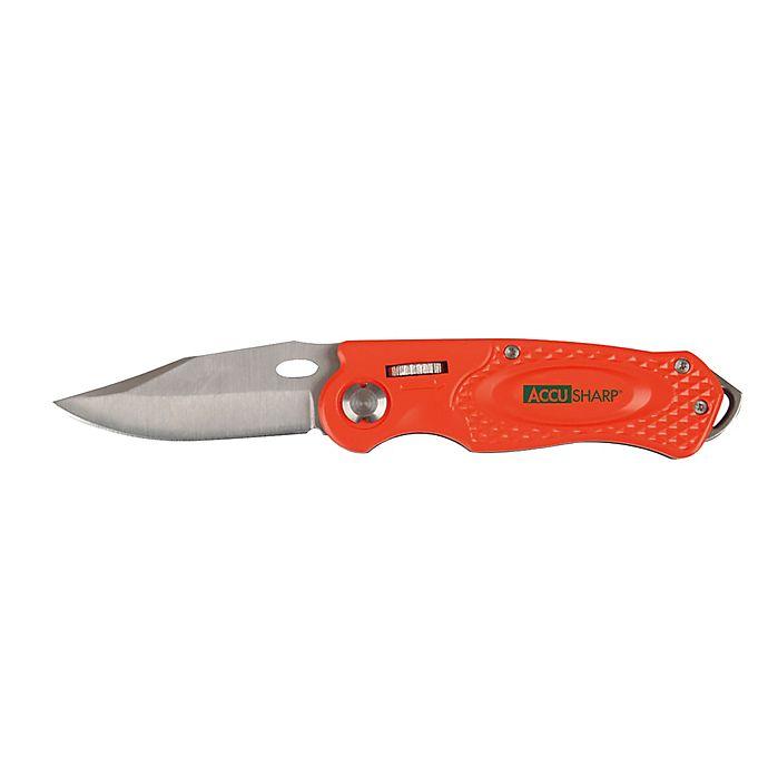 Alternate image 1 for AccuSharp® Folding Sport Knife in Orange