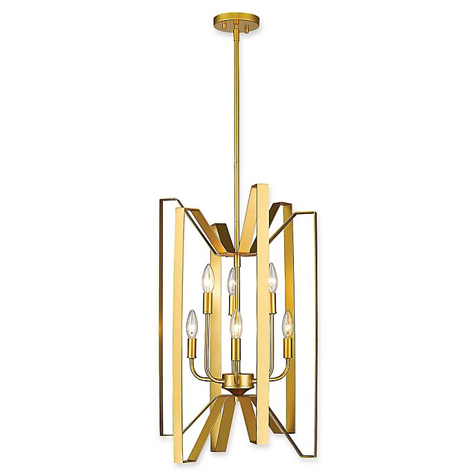 Alternate image 1 for Filament Design Carroll 6-Light Pendant in Gold
