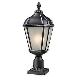 Filament Design Derrick Small Outdoor Pier-Mount Light in Black