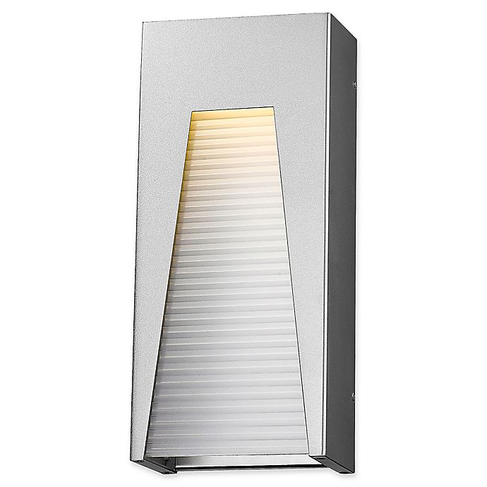 Alternate image 1 for Filament Design Clare Outdoor 7-Inch LED Wall Light in Silver with Frosted Shade