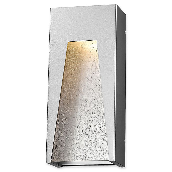 Alternate image 1 for Filament Design Clare Outdoor 7-Inch LED Wall Light in Silver with Clear Seedy Glass Shade