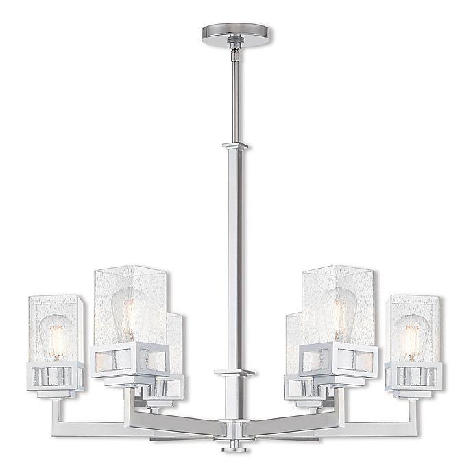Alternate image 1 for Livex Lighting® Harding 6-Light Chandelier in Polished Chrome