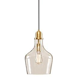 Madison Park Auburn 1-Light Pendant in Gold